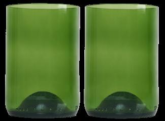 Rebottled 2 glazen groen GVP 2st gall