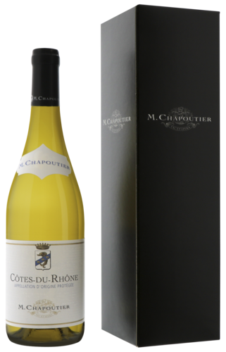 M. Chapoutier Côtes du Rhône Blanc Geschenkverpakking 75CL gall